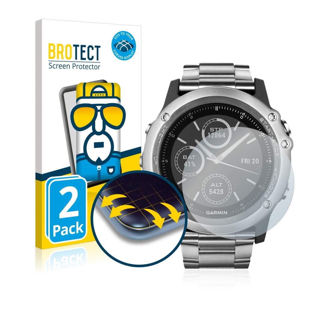 2x BROTECT Flex Full-Cover Protector Garmin fenix 3 HR